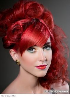 red hair men | Fiery Red Punk Updo Hair Style