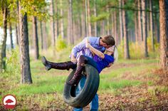 Tire Swing, Country Engagement Session