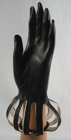 black vintage gloves
