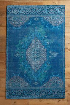 Blue on blue with blue. Overdid Vedado Rug - anthropologie.com