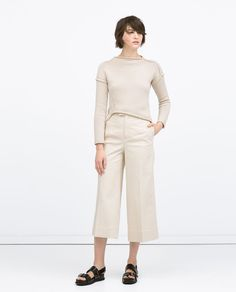 Image 1 of DIAGONAL KNIT SWEATER from Zara