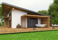 Looking for a Construction Maison Bois Yvelines. We have Construction Maison Bois Yvelines and the other about Maison Interieur it free. Contemporary House Plans, Modern House Plans, Modern House Design, Facade House, House Roof, Future House, Passive House, Prefab Homes, Architect Design