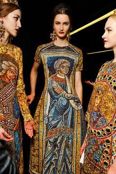 girlannachronism:    Dolce & Gabbana fall 2013 rtw backstage