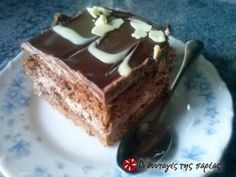 Greek Desserts, Party Desserts, Greek Recipes, My Recipes, Tiramisu, Sweet Tooth, Deserts, Pudding, Sweets