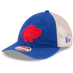 f480a2f8bc9 Men s Buffalo Bills New Era Royal White Frayed Twill 9TWENTY Adjustable Hat