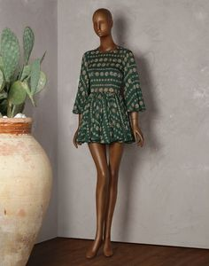 ANCIENT-COIN-PRINT BABYDOLL DRESS - Short dresses - Dolce&Gabbana - Summer 2014