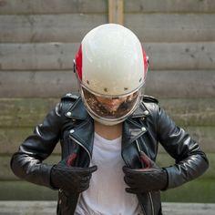 Roland Sands Women's Riot Glove and Bell Bullitt helmet