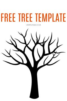 This free tree template is perfect for making spring or autumn crafts for kids - or a whole four seasons craft! Free printable tree template that's perfect for kids crafts. Tree Templates, Stencil Templates, Templates Printable Free, Printables, Spring Crafts For Kids, Autumn Crafts, Tree Crafts, Fun Crafts, Preschool Crafts