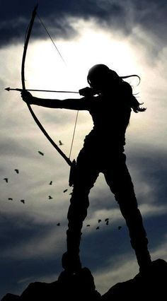 'A woman with a bow and arrow is powerful, strong, capable and independent. I want to emulate these qualities and learn to shoot archery.' I think its Lara Croft from the Tomb Raider game Story Inspiration, Character Inspiration, Paris 3, Lara Croft Tomb, Warrior Princess, Sagittarius, Urban Art, Fairy Tales, Medieval