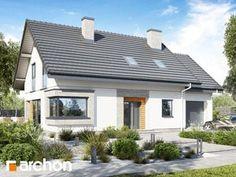 Projekt domu Dom w zdrojówkach - ARCHON+ Pvc, Pergola, Garage Doors, Outdoor Structures, Outdoor Decor, House, Home Decor, Design, House 2
