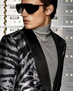 b4953166690b TOM FORD AW18 MENSWEAR · A bold look featuring the Zebra Atticus Cocktail  Jacket paired with Spector Sunglasses.  TOMFORD