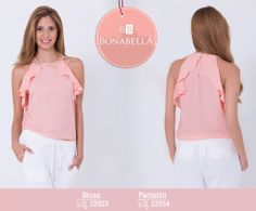Crea un look sofisticado y moderno, inspírate en los bloques de color que están de moda, combina esta blusa con un pantalón blanco o negro.   Precio de la blusa aquí: http://bonabella.com.co/producto/blusa-22023/ Precio del pantalón aquí: http://bonabella.com.co/producto/pantalon-22254/
