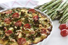 Lust auf Spargel-Quiche? Ich zeige euch hier mein leichtes und gleichzeitig auch leckerstes Rezept mit Frühlingszwiebeln und Tomaten!