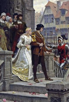 call to arms by Edward Blair Leighton,1888 (what a unlucky couple!)