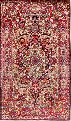 Antique Silk Persian Kermani Rug 47591 Main Image - By Nazmiyal                                                                                                                                                     More