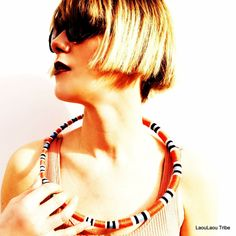 Snake tribal african mold shaped necklace, multiwearable neckring, wild and poised!