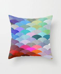 Spectrum scales throw pillow