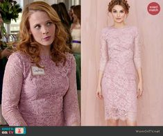 worn by Daphne Vasquez (Katie Leclerc) on Switched at Birth Fashion Tv, Spring Summer Fashion, Fashion Outfits, Katie Leclerc, Lavender Lace Dress, Celeb Style, My Style, Switched At Birth, Work Clothes