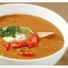 Tortilla Soup With Chicken and Lime