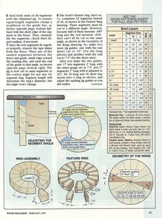 How to make a lovely segmented bowl
