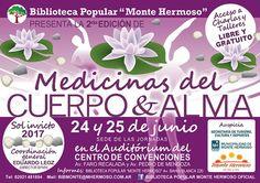 """24 y 25 de junio: Se viene la 2º edición de """"Medicinas del cuerpo y alma"""".  La Biblioteca Popular Monte Hermoso invita a participar del 2º..."""