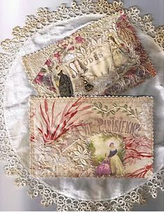 fabric-quilted postcard