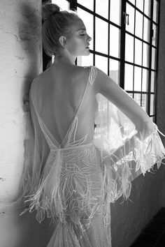 Wedding Dresses: Illustration Description Lee Petra Grebenau 'Daria' Wedding Dress for the boho bride Wedding Dress Backs, Used Wedding Dresses, Gorgeous Wedding Dress, Bridal Dresses, Wedding Gowns, One Shoulder Wedding Dress, Collection 2017, Bridal Collection, Dress Collection