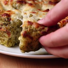 Pull-Apart Cheesy Pesto Bread
