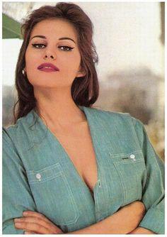 Claudia Cardinale postcard