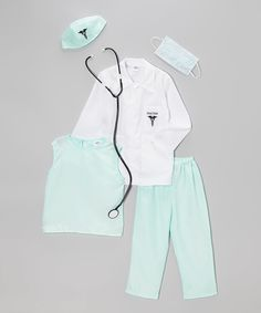 Another great find on #zulily! White & Aqua Doctor Dress-Up Set - Toddler & Kids by Dress Up America #zulilyfinds