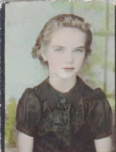 +~ Vintage Photo Booth Picture ~+ Blue eyed girl