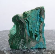 Chrysocolla Slab. Arizona old stock. Miner's Gems and Minerals