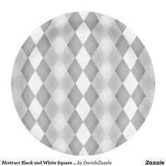 Abstract Black and White Square Pattern Paper Plate  Available on more products! Type in the name of the design in the search bar on my Zazzle Products Page. Thanks for looking!  #abstract #pattern #rectangle #square #black #white #grey #gray #buy #sale #zazzle #art #digital #style #life #lifestyle #accessory #accent #chic #contemporary #modern #paper #disposable #plate #catering #events