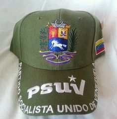 GREEN PSUV VENEZUELA CAP new w tags Seal and Flag hugo chavez