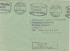 Postscheckamt Ludwigshafen (Rhein) 27-12-1955 Maschinenstempel 'Unversiegeltes Wertpaket schutzt vor Verlust'