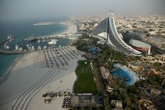 6. The Jumeira Beach Hotel resembles a giant wave on the coast. The…