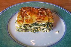 Spinat - Schafskäse - Lasagne, ein sehr leckeres Rezept aus der Kategorie Gemüse. Bewertungen: 114. Durchschnitt: Ø 4,2.