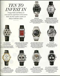 See luxury watches. Patek Phillippe, Hublot, Rolex and much more. Gents Watches, Sport Watches, Cool Watches, Rolex Watches, Montre James Bond, Swiss Army Watches, Expensive Watches, Tag Heuer, Rolex Submariner