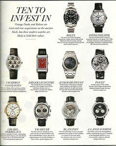 Top Ten Luxury Watches to Invest in #rolex #rolexwatches #rolexwatch #thewatchmen #thewatchmenllc #rolexsubmariner #topwatches #investmentwatches #invest #investments #luxurywatches