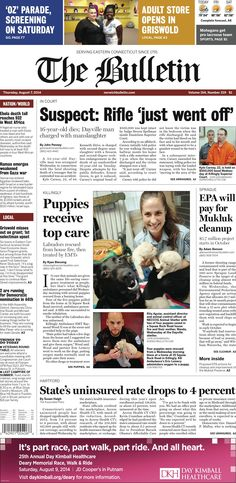 Thursday, August 7, 2014 - Subscribe to The Bulletin today: http://www.norwichbulletin.com/subscribenow #ctnews #newlondoncounty #windhamcounty