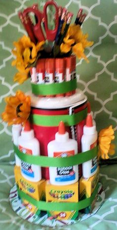 Gifts That Say WOW: Back to School Supply Cake