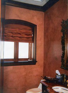 Terra cotta faux finish on walls by pamschwyzer, via Flickr