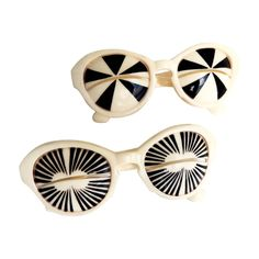 Iconic 1960s Mod/Op Art Sunglasses/Italy | From a collection of rare vintage sunglasses at https://www.1stdibs.com/fashion/accessories/sunglasses/
