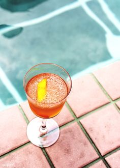 Cocktail drink by the pool | free image by rawpixel.com