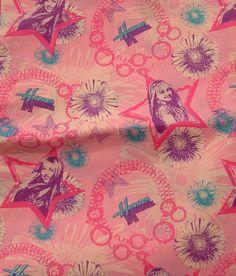 Hannah Montana Star Charm Bracelet by Spring Creative Fabrics 1 1/2 Yards by TotallyToteableTotes on Etsy