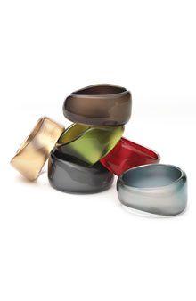 Asymmetric Nordstrom Metallic Resin Bangle Bracelet