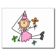 Princesa real rosada postales