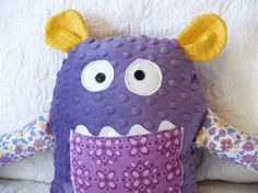 Violet the Purple Monster Plushie by raindropstops on Etsy