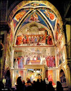 Domenico Ghirlandaio's Sassetti Chapel in the church Santa Trinita in Florence | From 1485, where I stopped always on my way to school. It is so beautiful.