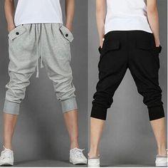 2015 summer harem pants trousers sports pant men's shorts men thin models big yards loose breeches